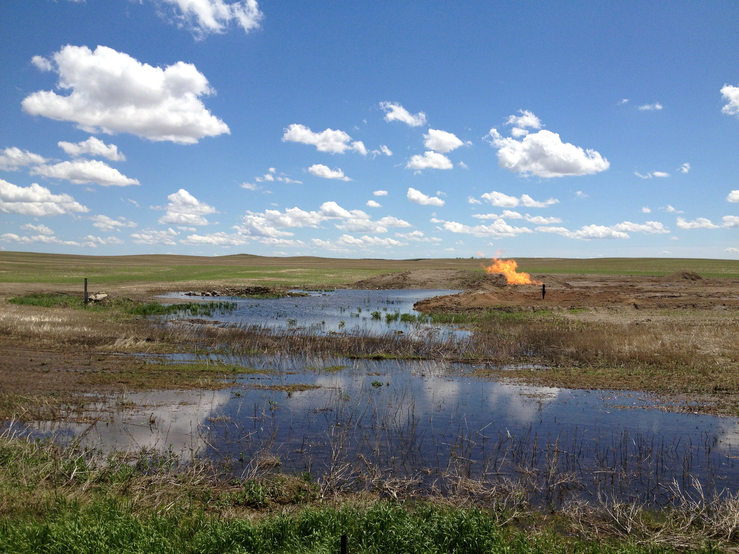 Clear Skies and Fresh Water Threatened by Burning Waste Gas